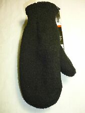 ISOTONER CASUAL ESSENTIALS WOMENS MITTEN GLOVE BLACK VERY THICK WARM~new