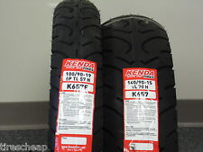 "TWO TIRE SET MOTORCYCLE TIRES 100/90-19 FRONT 140/90-15 REAR  K657  19"" 15"""