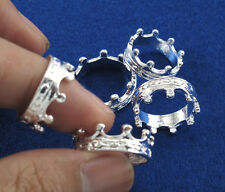5pcs/lot Silver Jewellery Women Crown Rings Toothed Wheel Mix 6#-9# Wholesale