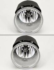 Chrysler Jeep Dodge Euro Clear Front Bumper Fog Lights Lamps Pair RH LH