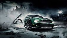 2012 FORD MUSTANG GT Cobra chains 24X36 inch poster, sports car, muscle car