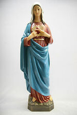 """25"""" Immaculate Heart of Mary Madonna Statue Sculpture Catholic Religious Italy"""