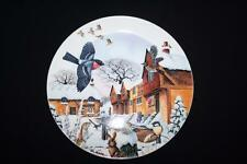 WEDGWOOD COUNTRY CHRISTMAS  COLLECTORS PLATE BY COLIN NEWMAN - WOODLAND VISITORS