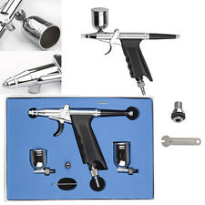 Dual Action 7cc/10cc Airbrush Spray Gun Paint Art Cake Craft Air Brush Hose Kit