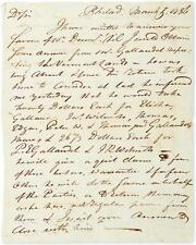 """BIDDLE, CLEMENT. Autograph Letter Signed, to """"Dear Sir,"""" describing th... Lot 12"""