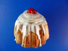 Bundt Cake Old World Christmas Ornament Glass Blown Clip On Baker Food NWT 32212