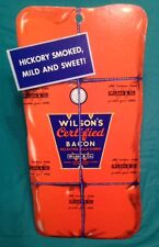 RARE BUTCHER DISPLAY WILSON CERTIFIED PACKING BACON SIGN HANGING MEAT PIG PORK