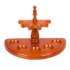 Rosewood Wooden Semicircle Smoking Pipe Stand Rack Holder For 5 Smoking Pipes
