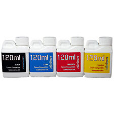 4 Multi-Color 120ml bottles ink Epson Printer Dye Sublimation Ink  Heat Transfer