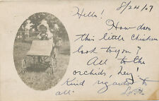 Oriskany Falls NY * Baby on Old AJAX Pedal Car? RPPC 1907 * Oneida Co. UNUSUAL