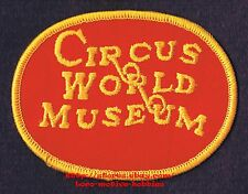 LMH PATCH Badge  CIRCUS WORLD MUSEUM  Ringling Brothers History  BARABOO WI  red