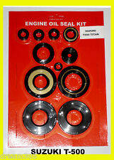Suzuki T500 Titan Engine Oil Seal Kit! 1968 1969 1970 1971 1972 1973 1974 1975