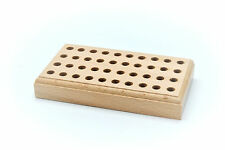 Large 40 Hole Hardwood Metal Stamp Tool Holder Storage 146mm x 82mm Base. J1473