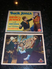 RIDIN' FOR JUSTICE Original 1932 Title Lobby Card/Lobby Card, C7 Fine/Very Fine