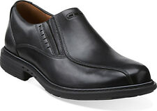 Clarks Men ** UN SLIP ** BLACK LEATHER ** SLIP-ON , EXTRA SOFT **  UK 11 / 10.5