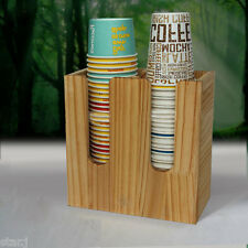 Paper Cup and Lid Holder Dispenser Organizer Drink Coffee Shop Counter Display