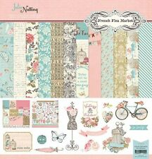 "PHOTOPLAY ""FRENCH FLEA MARKET"" 12X12 PAPER SHABBY CHIC FLORAL SCRAPJACK'S PLACE"