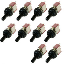 10 x On/Off 2Pin Mini Miniature Toggle Switch Car Dash Dashboard Knob Cap