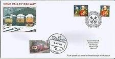 GB 2011 Christmas stamps x 2 on Nene Valley Railway FDC