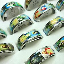 10pcs wholesale jewelry jesus enamel stainless steel rings free shipping