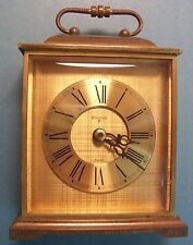 Bulova Swiss Heavy Brass Quartz Mantel/Shelf Clock 6 inch