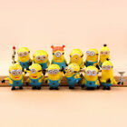 NEW Cute Despicable Me 2 minions Movie Character Figures Doll Toy set of 12pcs