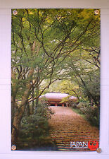 "ORIGINAL 1960's JAPAN AIR LINES TRAVEL POSTER KONDO HALL MURO-JI-TEMPLE 24""x39"""