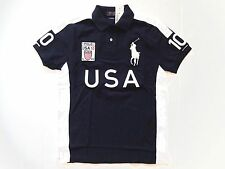 New Ralph Lauren Polo Custom Fit Big Pony Navy 100% Cotton USA Shirt size XXL