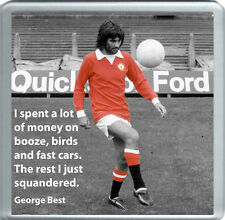 George Best Quote (Coaster)