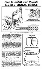 COPY OF LIONEL No. 450 Signal Bridge How to Install and Operate Guide