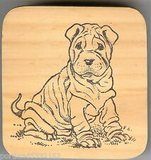 Stampen Around Rubber Stamp SA-314 Wrinkled Love, New,  Puppy  S12
