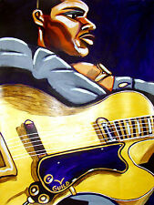 GEORGE BENSON PRINT poster jazz archtop guitar other side of abbey road cd guild