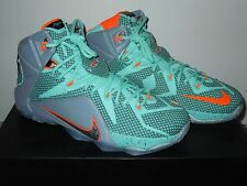 NIKE LEBRON XII 12 TURQUOISE MIAMI DOLPHINS SHOES 2015 10.5 jordan OG air mag
