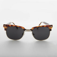 Unique Vintage Tortoiseshell Half Frame Sunglass with Horn Rim - Bailey