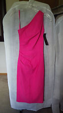 NWT Stop Staring Gathered Ava Dress One Shoulder Pink Size 6 Small Pinup Bombshe