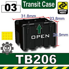 Black TB206 (W235) Transit Case toy army compatible with toy brick minifigures
