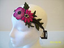 ELASTICATED FLOWER HEADBAND  BOHO HIPPY