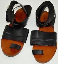 Balenciaga Multi Strap Buckle closure Black Leather Gladiator Sandals 9