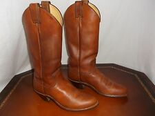 Justin roper 4152 Western Cowgirl Riding tan walnut Boots Womens Sz 5.5 B