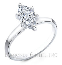 0.74 CT MARQUISE H SI1 GIA CERTIFIED DIAMOND ENGAGEMENT RING 10.05x5.02x2.59MM