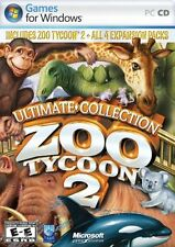 Zoo Tycoon 2: Ultimate Collection [Computer PC DVD All 4 Expansion Packs] NEW