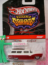 2010 #2 PHIL'S Garage☆CHASE☆8 CRATE Station Wagon☆White/Red☆RealRider☆Hot Wheels