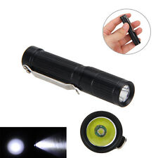 MINI 300LM CREE R5 Portable  LED Linterna Pocket Torch Clip Hunt AAA/10440 Lamp