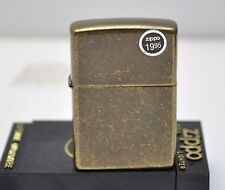 RARE 1996 Classic Antique Brass Finish Zippo Lighter #201FB New old stock