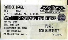 PATRICK BRUEL bercy 1994 ticket invitation