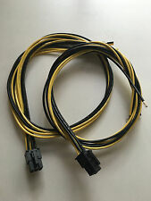 2 X Bitmain Antminer S1 S3 S5 S7 6 pin 4 wire 14 AWG PCIE Power Supply Cables