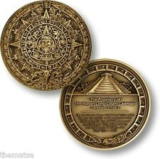 "MAYAN 2012 PROPHECY 1.75"" BRONZE USA MADE  CHALLENGE COIN"