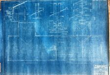 1939 NY WORLD'S FAIR BOATHOUSE ROOF & FRAMING PLAN (1937) BLUEPRINT, FLUSHING