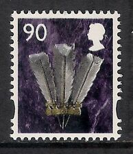 GB QEII MNH STAMP Wales SG W112 90p PRINCE OF WALES FEATHERS Regional Definitive