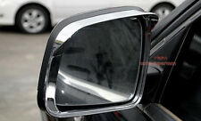 Chrome side Mirror rims frame trim Rain Visor For JEEP Grand Cherokee 11-2017